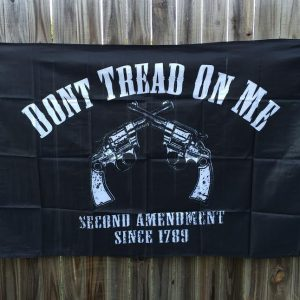 Don't Tread on Me Black Second Amendment Flag