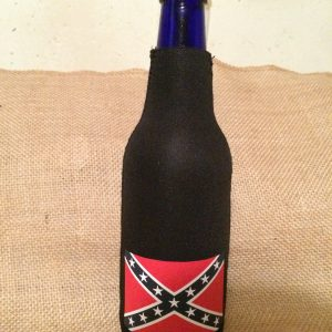 Confederate Flag Bottle Koozie (black)