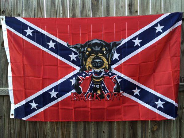 Rebel Back Off Flag