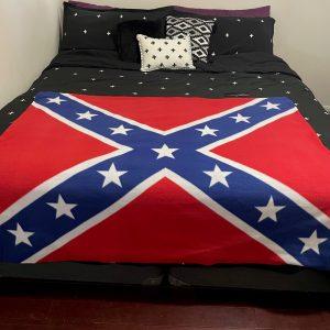 Rebel Flag Throw Blanket
