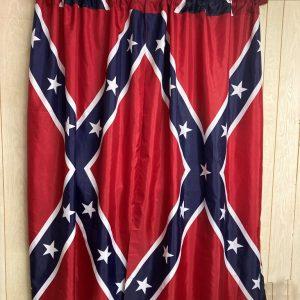 Confederate Rebel Flag Curtains