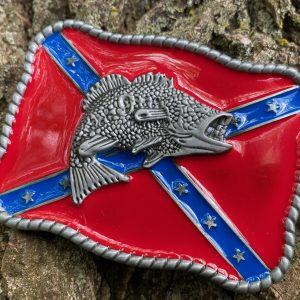 Largemouth Bass Confederate Belt Buckle