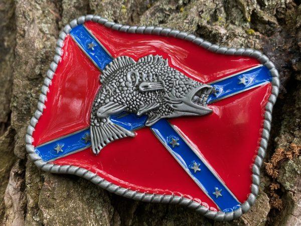 Largemouth Bass Confederate Belt Buckle