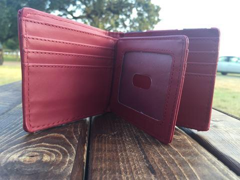 Rebel Flag Bi-Fold Leather Wallet