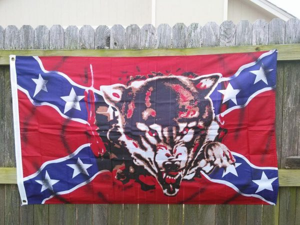 Rebel Wolf Flag