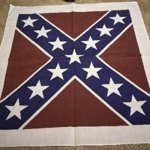 Confederate Flag Bandana W/ White Border