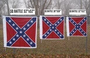 Square Battle Flag (Cotton) 3 Sizes