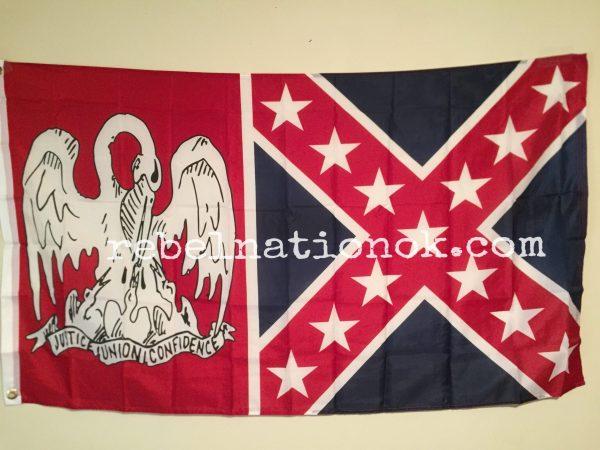 Louisiana Rebel Flag