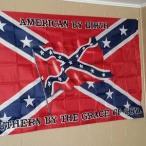 American By Birth Rebel Flag
