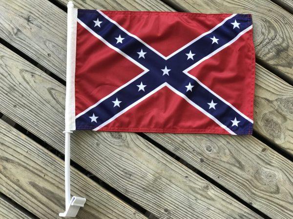Confederate Car Window Flag