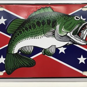 Confederate Bass License Plate