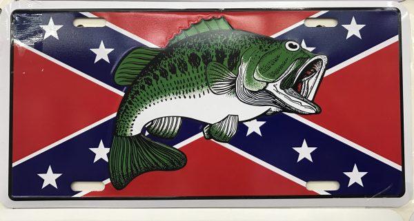 Confederate Bass License Plate
