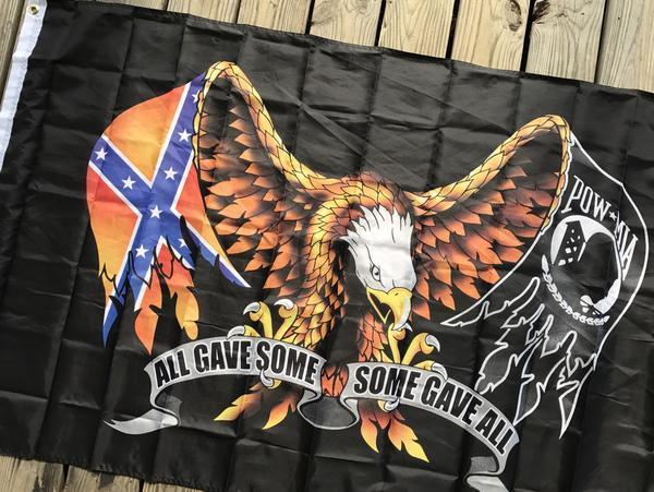 Confederate Rebel POW Eagle Flag
