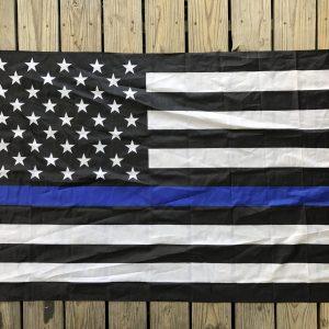 Police Blue Line Flag