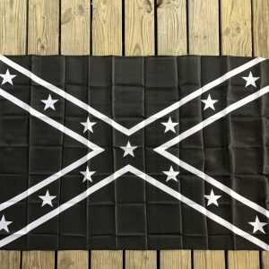 Black and White Confederate Flag