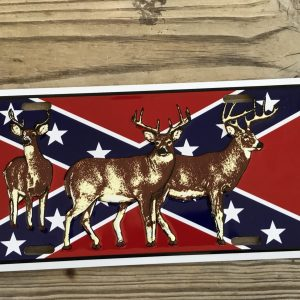 Confederate Deer License Plate