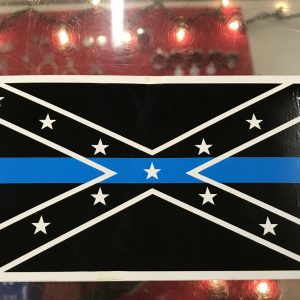Confederate Flag Blue Line Bumper Sticker