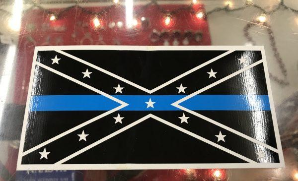 Confederate Flag Blue Line Bumper Sticker
