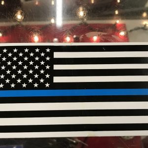 American Flag Blue Line Bumper Sticker