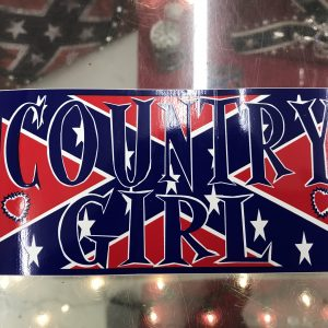 Confederate Country Girl Bumper Sticker