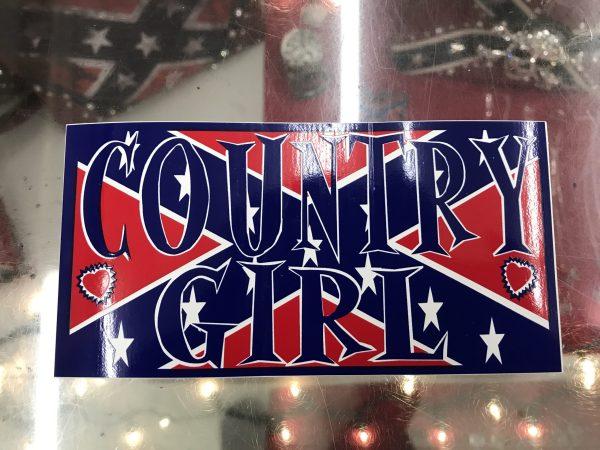 Confederate Country Girl Bumper Sticker