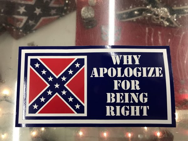Confederate Why Apologize For Being Right Bumper Sticker