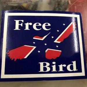 Free Bird Confederate Bumper Sticker