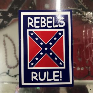 Rebels Rule Confederate Bumper Sticker