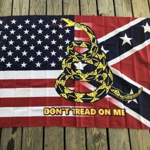 Triple Threat Confederate Flag