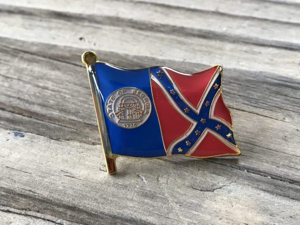 Georgia Confederate Flag Lapel Pin