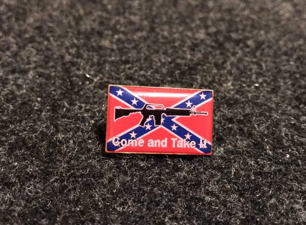 Come and Take It Hat Pin