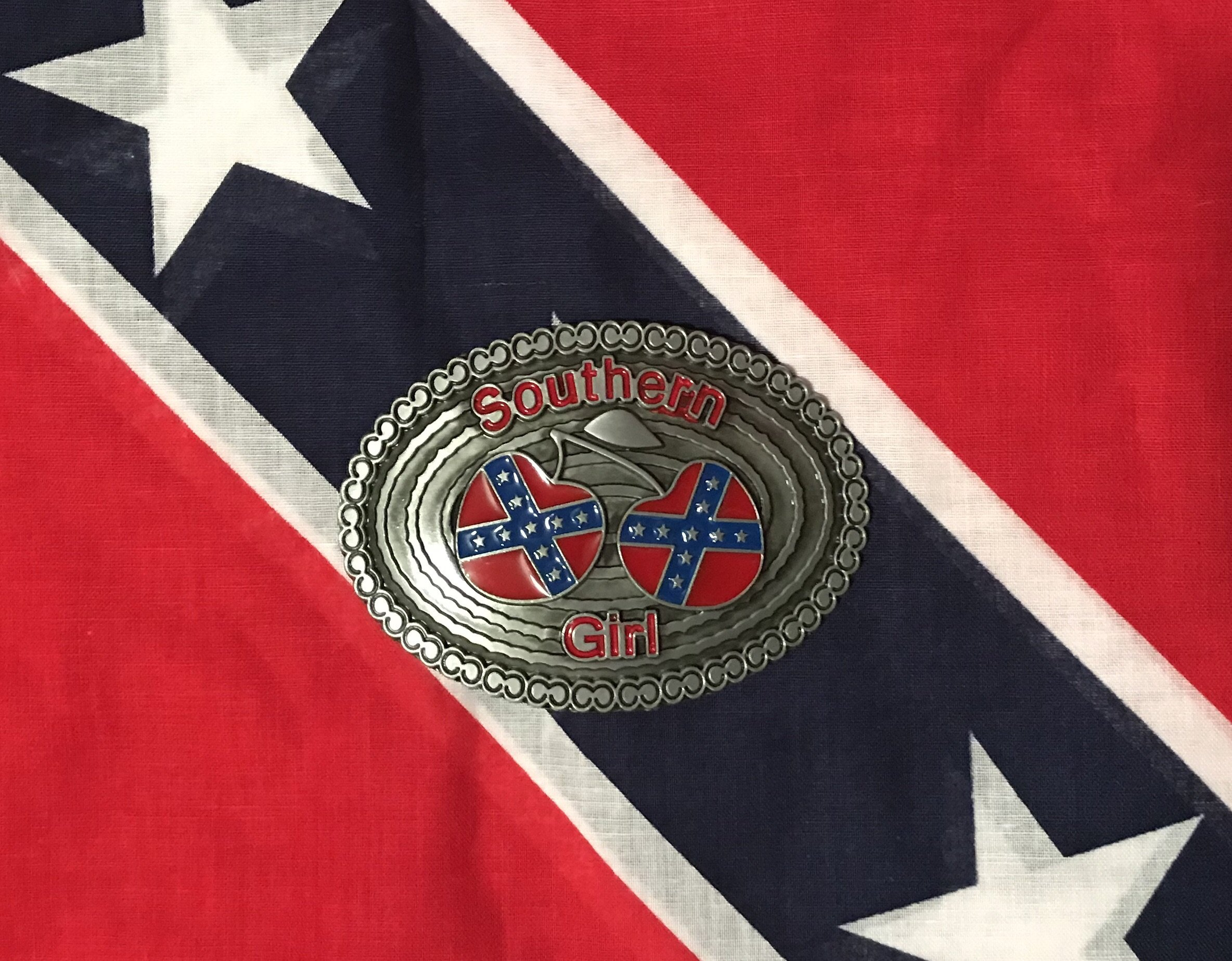 Rebel Southern Girl Belt Buckle