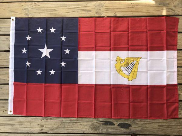 1st Irish Brigade Confederate W/ 11 Stars & Harp