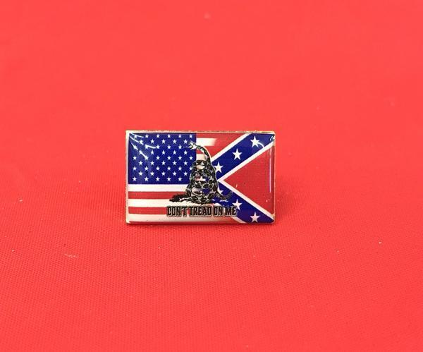 Triple Threat Flag Pin