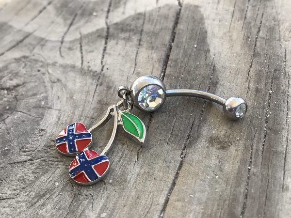 Rebel Cherry Belly Button Ring
