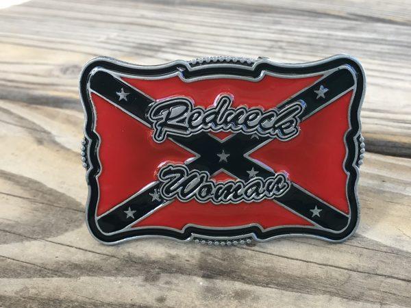 Rebel Redneck Woman Belt Buckle