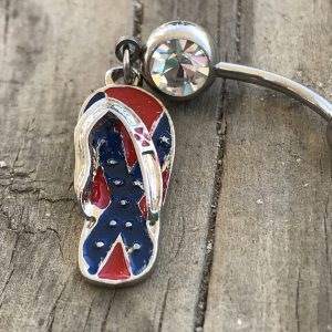 Rebel Flip Flop Belly Button Ring