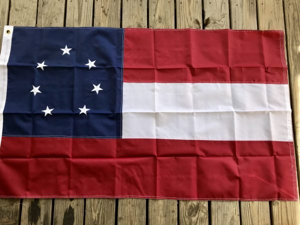 1st National Confederate Flag Poly 4x6 5x8