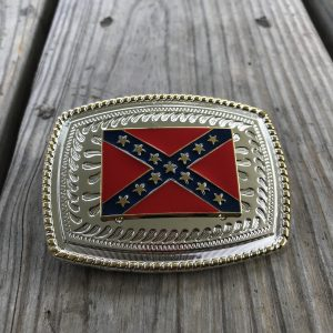 Rebel Flag Belt Buckle