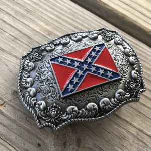 Antiqued Rebel Belt Buckle