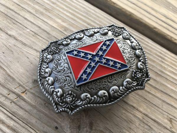 Antiqued Rebel Belt Buckle