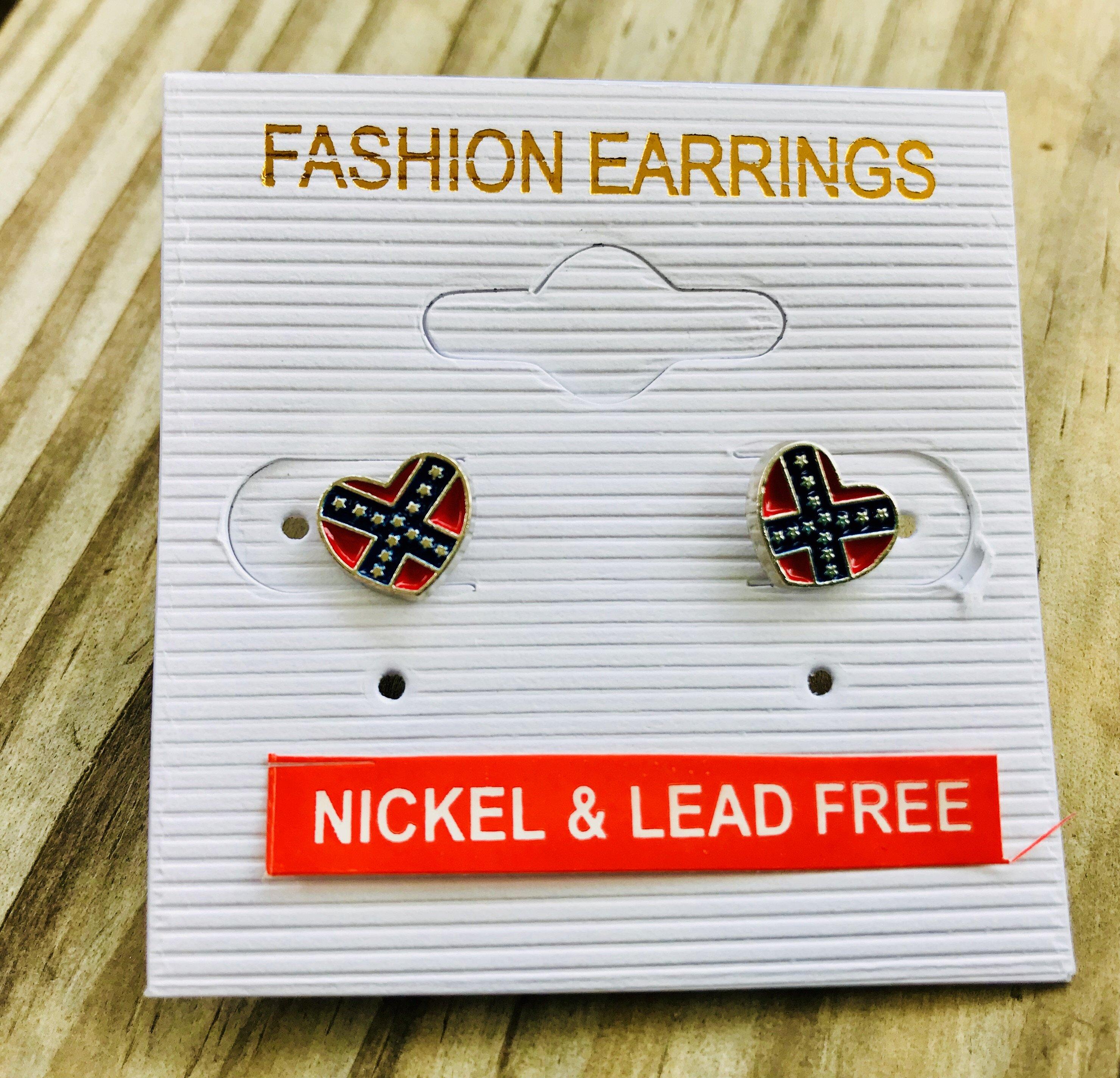 Rebel Heart Stud Earrings