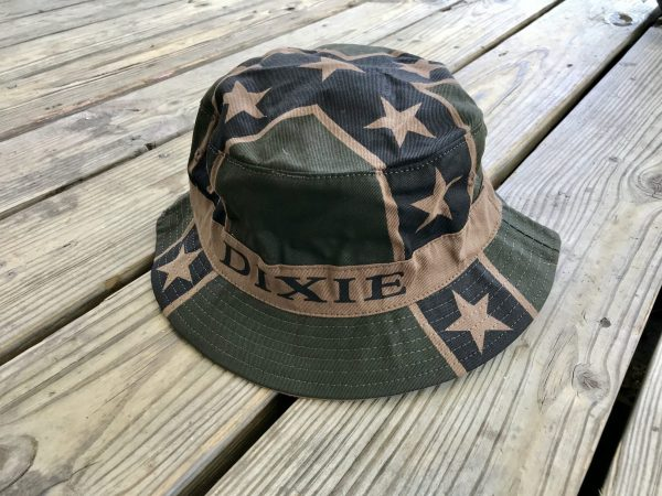 Dixie Rebel Flag Camo Bucket Hat