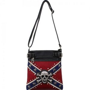 Concealed Carry Rebel Flag w/Skull & Crossbones Messenger Bag