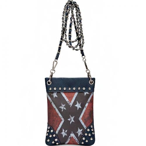 Rebel Flag Hipster/Cell Phone Bag (Blue)