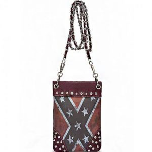 Rebel Flag Hipster/Cell Phone Bag (Red)