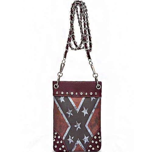 Rebel Flag Hipster/Cell Phone Bag (Red)