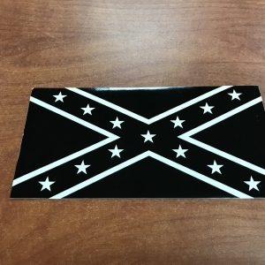 Black and White Rebel Flag Sticker