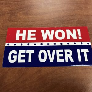 He Won Get Over It Sticker