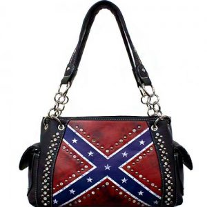 Vintage Rebel Flag Handbag W/Studs
